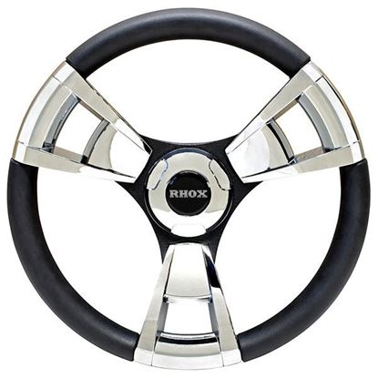 Picture of Fontana Steering Wheel, Chrome, Choose Club Car Model