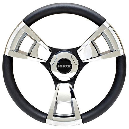 Picture of Fontana Steering Wheel, Chrome, Choose Club Car Model