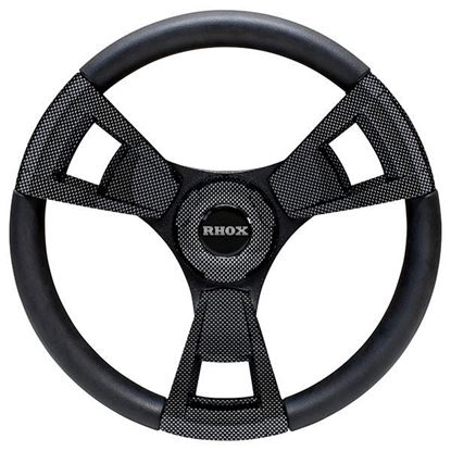 Picture of Fontana Steering Wheel, Carbon Fiber, Choose Club Car Model