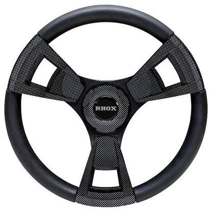 Picture of Fontana Steering Wheel, Carbon Fiber, Choose Club Car Model