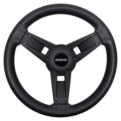 Picture of Giazza Steering Wheel, Black, All E-Z-Go