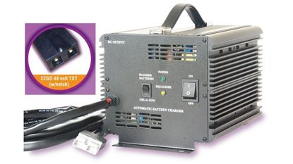 Picture of Schauer E-Z-GO  TXT 48V Battery Charger with Notch Plug